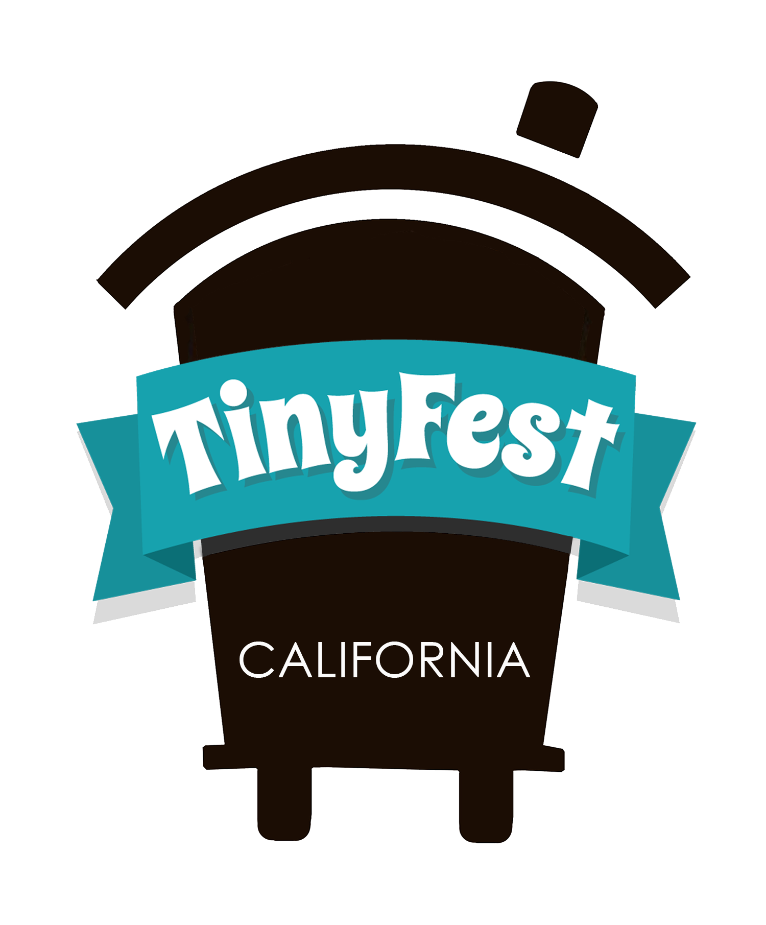 tiny house on wheels icon with a star near the top. it reads TinyFest California