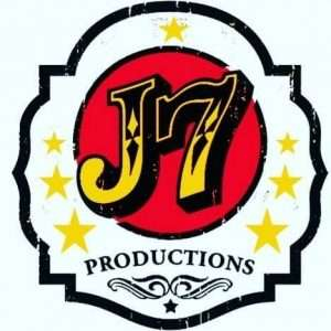 Colorful circus style logo reads J7 Productions