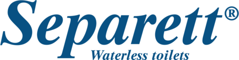 "logo reads ""Separett waterless toilets"""