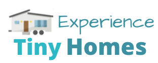 logo reads Experience Tiny Homes. It's cute with clipart of a tiny house