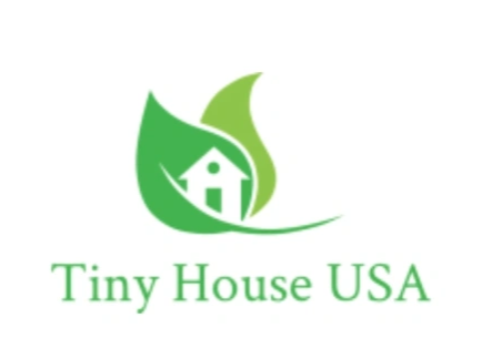 logo with peaceful green leaves with house logo in it. Reads