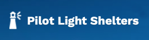 logo reads Pilot Light Shelters and has a lighthouse