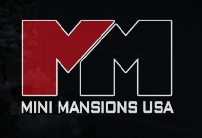 logo has a big MM and the words Mini Mansions USA under it